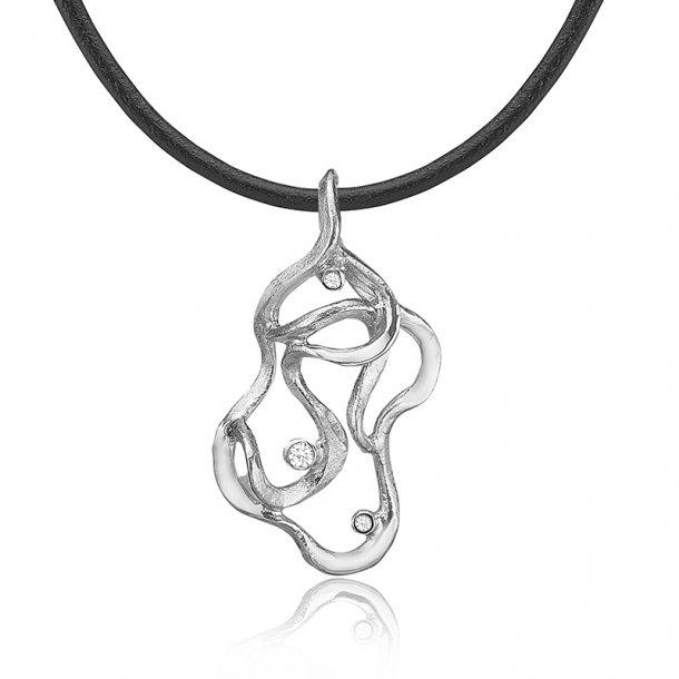 Kunstnerisk halskæde i sølv - 2470 39RL