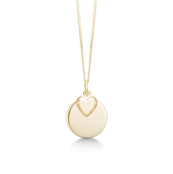 Aagaard forgyldt sølv collier med hjerte - 03302946-40 fra aagaard fra brodersen + kobborg