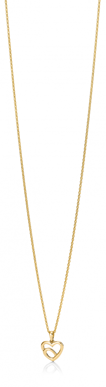 Aagaard 8 kr vedhæng med forgyldt sølv kæde - 04303895-45