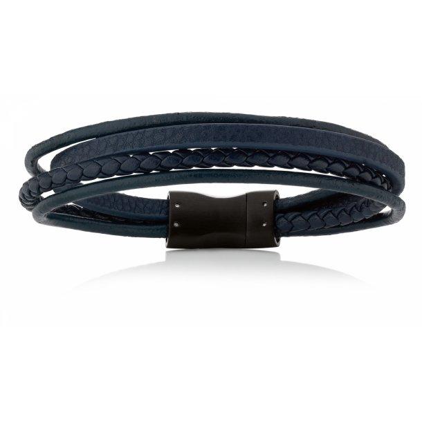 Aagaard Herre læderarmbånd med stål lås - 07104220-21