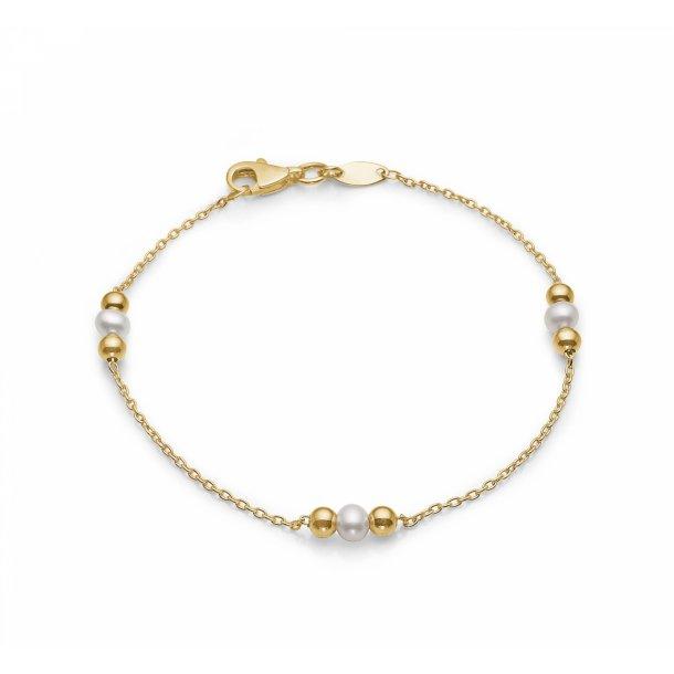Aagaard 8 kt armbånd med perler - 08103095-18