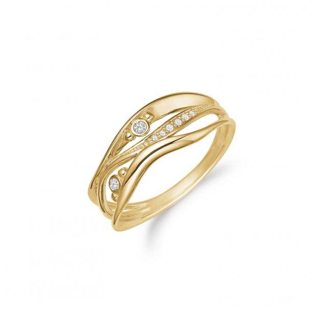 8 kt ring med zirkonia - 08622271-75