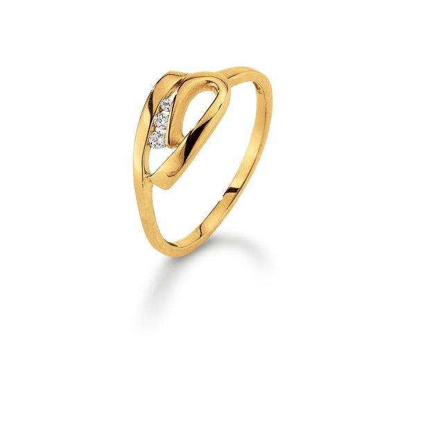 Aagaard 8 kt ring med zirkonia - 08623716-75