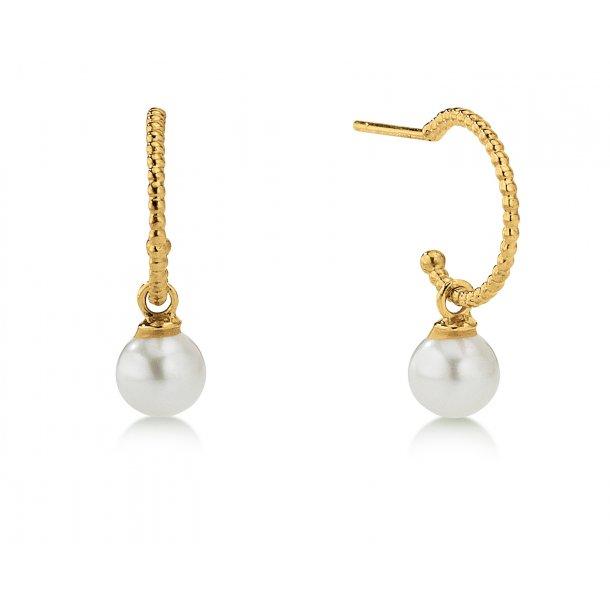 Aagaard 8 kt creol med perle - 08993675-31