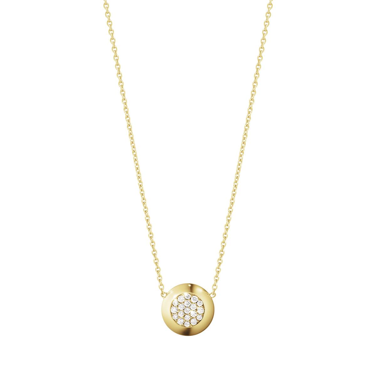 Georg jensen aurora halssmykke med diamant - 10002182 fra georg jensen - smykker på brodersen + kobborg