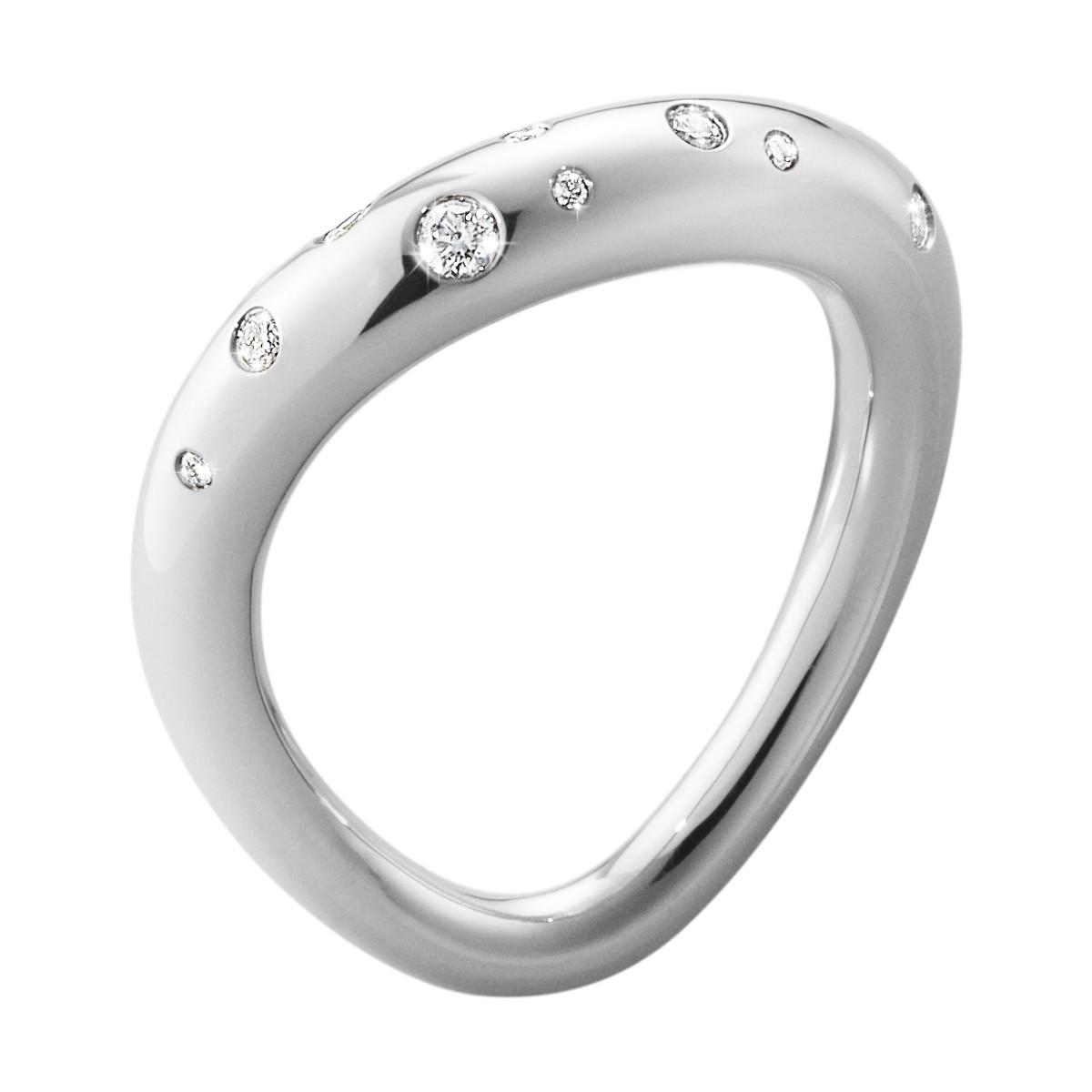 Georg Jensen OFFSPRING ring - 10013251 Sølv / 0.14 ct 2