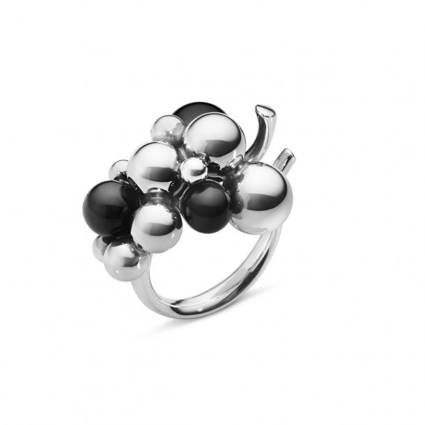 Georg Jensen Grape ring 551H sort onyx  - 10014391