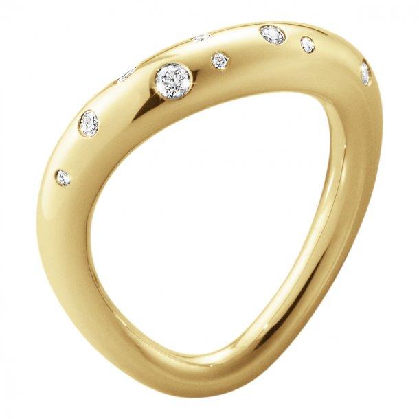 Georg Jensen Offspring ring 18 kt  diamanter - 10015345