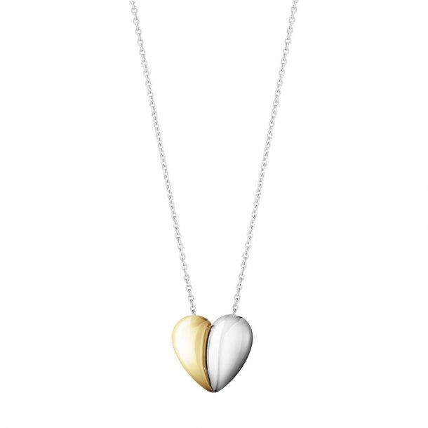 Georg Jensen Curve Heart halskæde med guld - 10017505