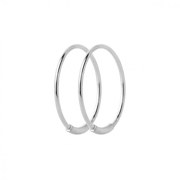 Maria Black Basic Hoop 16 sølv - 100224