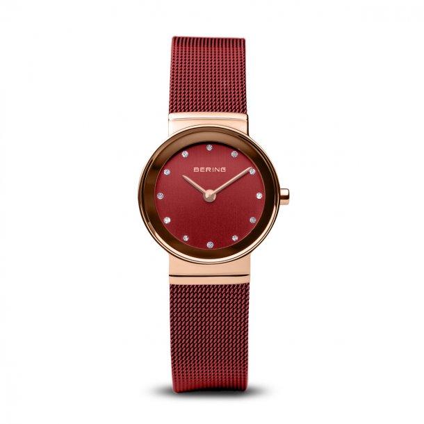 BERING Classic rød dameur - 10126-363