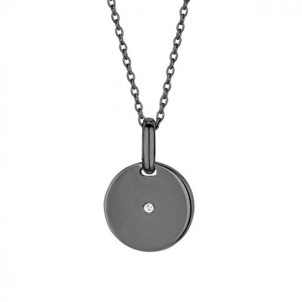 Spirit Icons pulse vedhæng med diamant og kæde - 10383-45