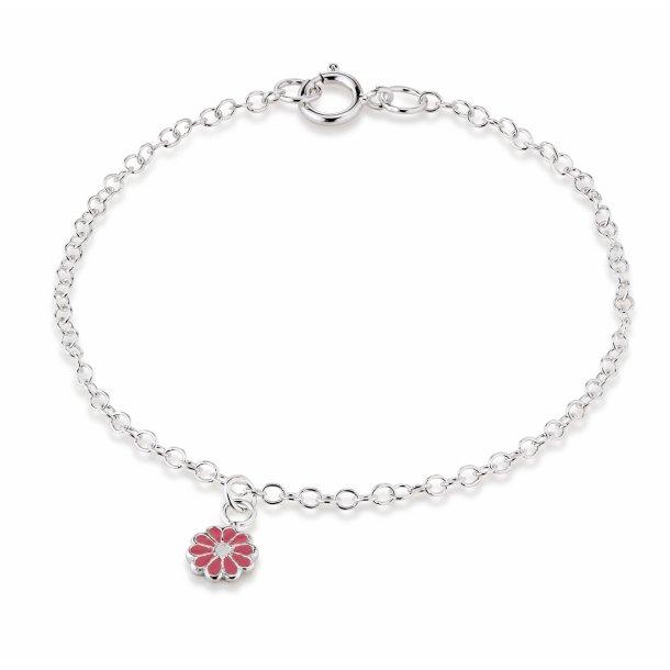 Aagaard Sølv armbånd med blomst - 11103800-16