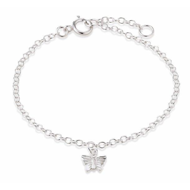 Aagaard Sølv armbånd med sommerfugl - 11103817-14