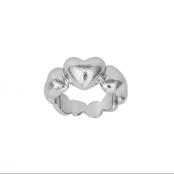 SHAPE sølv rhodinert hjerte ring - 112-000