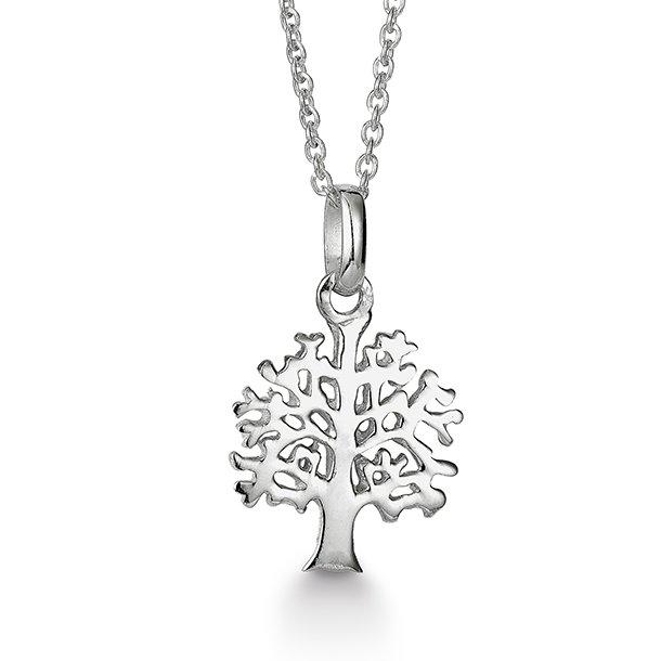 Aagaard sølv vedhæng livets træ incl. 45 cm kæde - 11303816-45