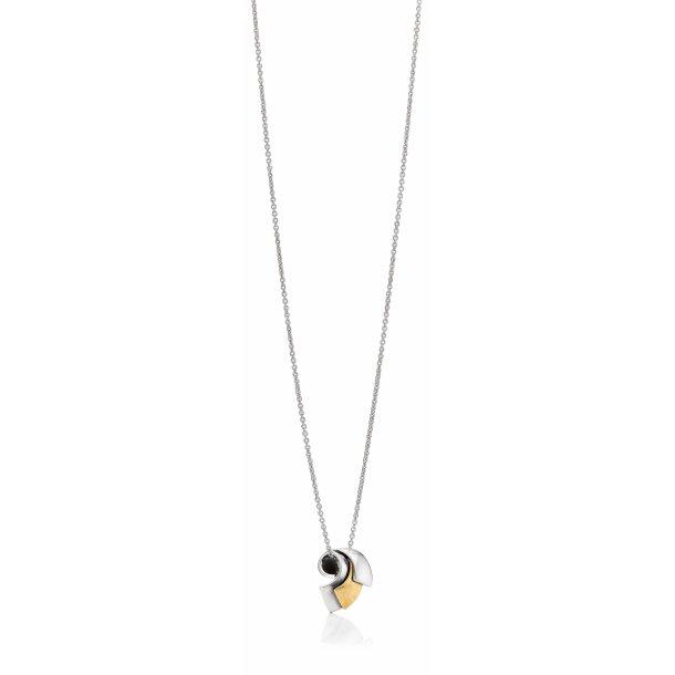 Aagaard Sølv collier med 14 kt - 11303843-45