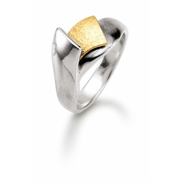 Aagaard Sølv ring med 14 kt - 11613843