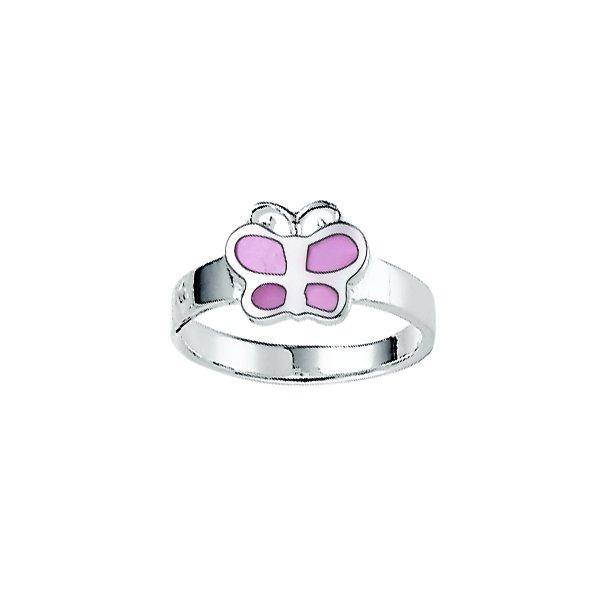 Aagaard Børne sølv ring m/sommerfugl - 1169317-37R