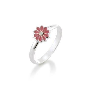 Aagaard Børne sølv ring m/emalje blomst - 11693800-97 Størrelse 44