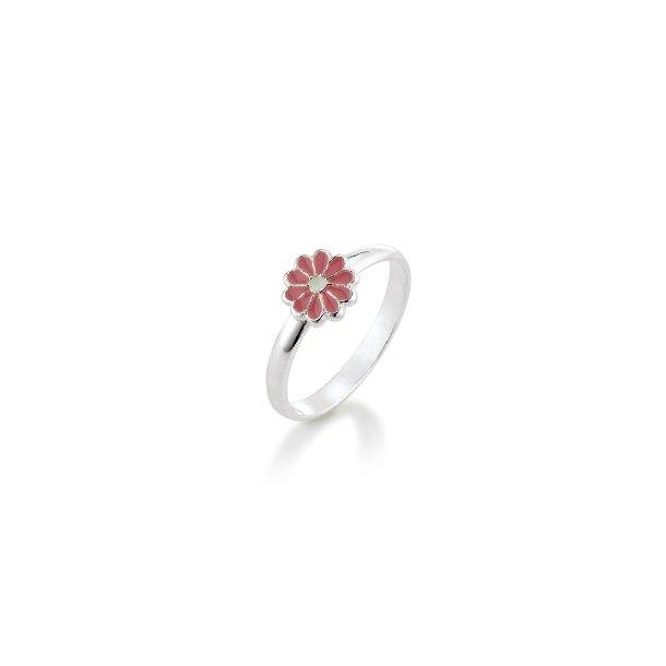 Aagaard Børne sølv ring m/emalje blomst - 11693800-97
