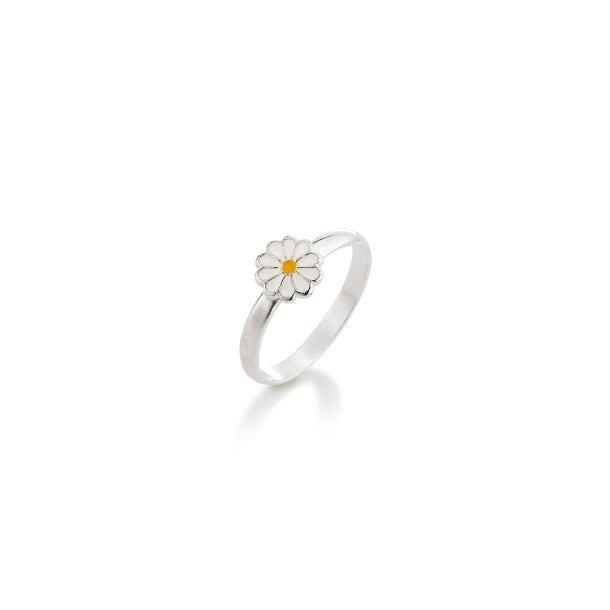 Aagaard Børne sølv ring m/emalje blomst - 11693801-97
