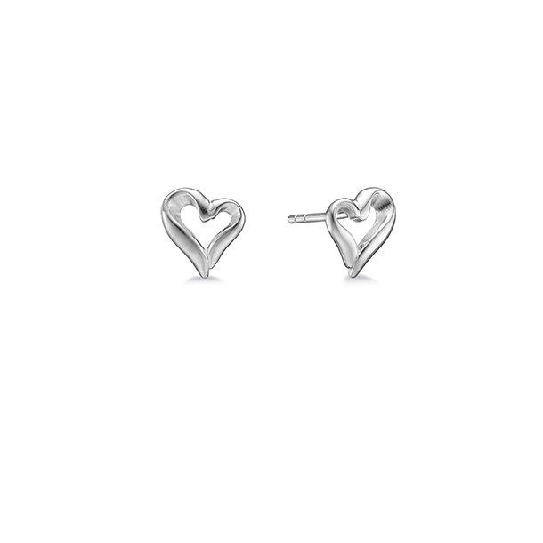 AAGAARD sølv ørestikker Hjerte - 11912753