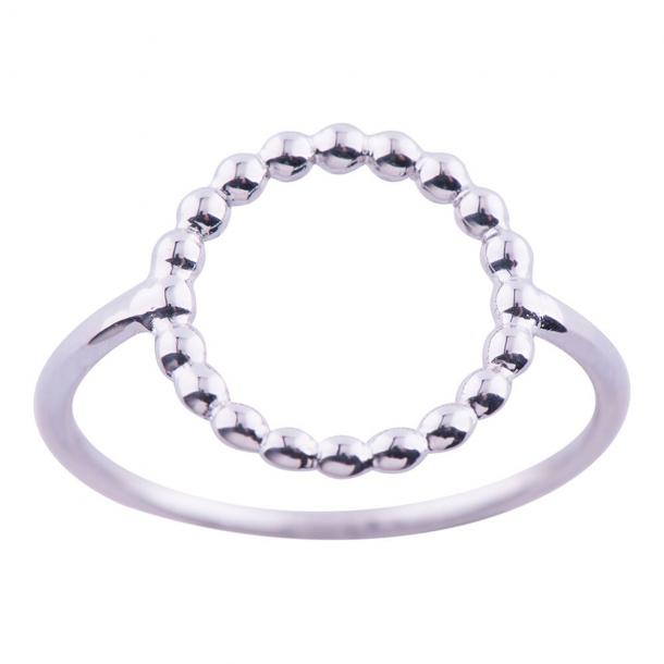 Rhodineret sølv ring  - 125 206