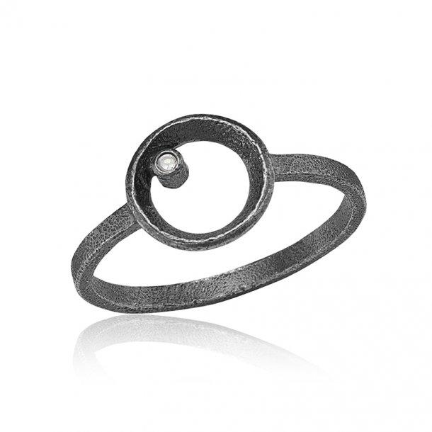 Blicher Fuglsang Oxideret sølv ring - 1301-39X