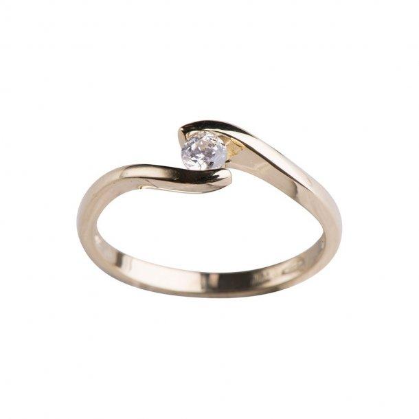 Nordahl Andersen 8 karat ring m/ zirkonia - 142 1397CZ3