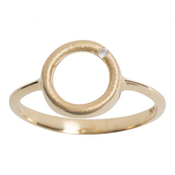 Nordahl Cirkel forgyldt ring - 144602