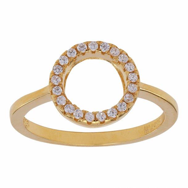 Forgyldt sølv ring Anna - 145 034-3