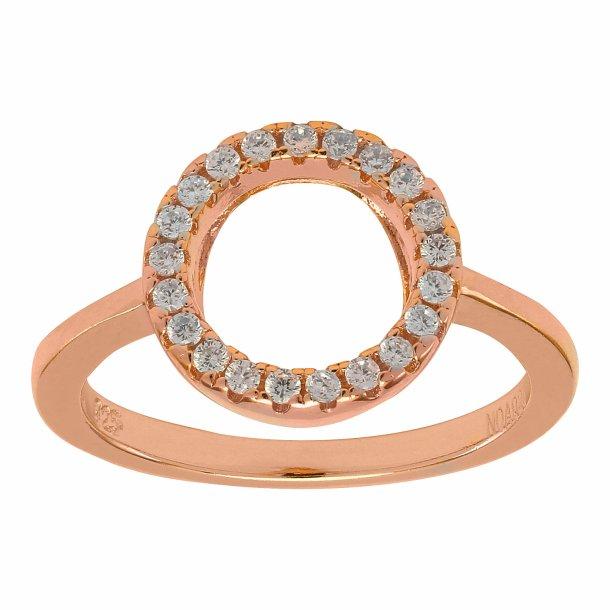 Rosaforgyldt sølv ring Anna - 145 034-4