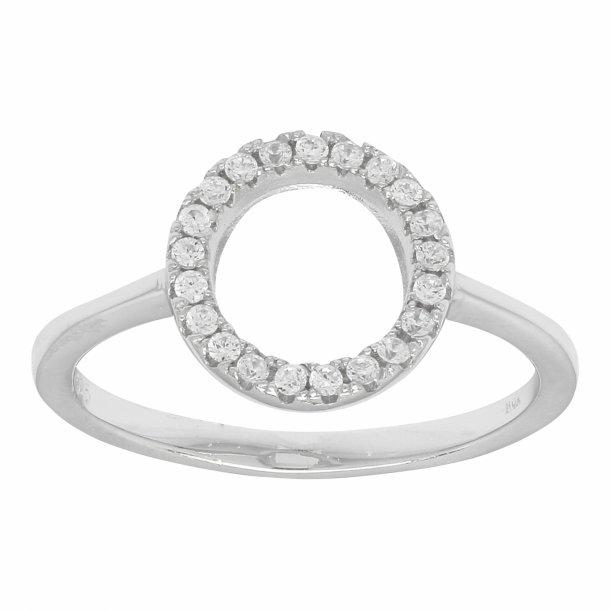 Rhodineret sølv ring Anna - 145 034