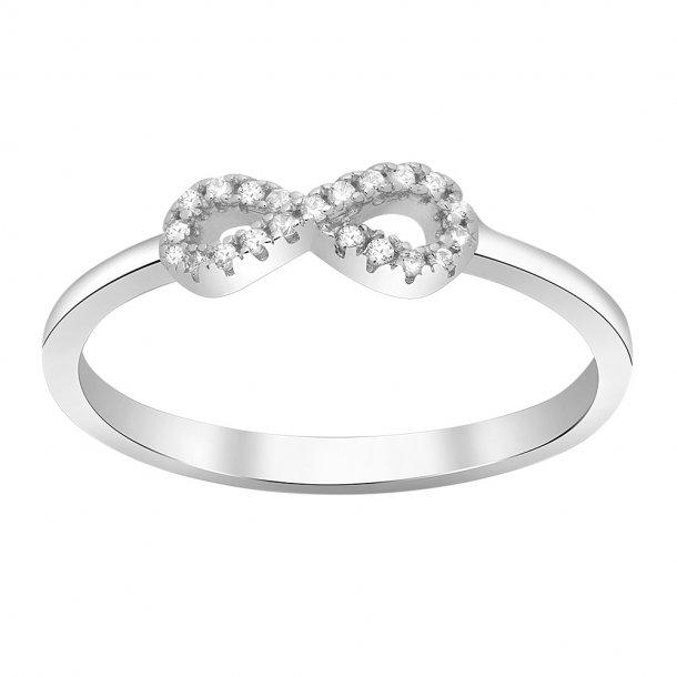 Rhodineret sølv ring Agna - 145 076
