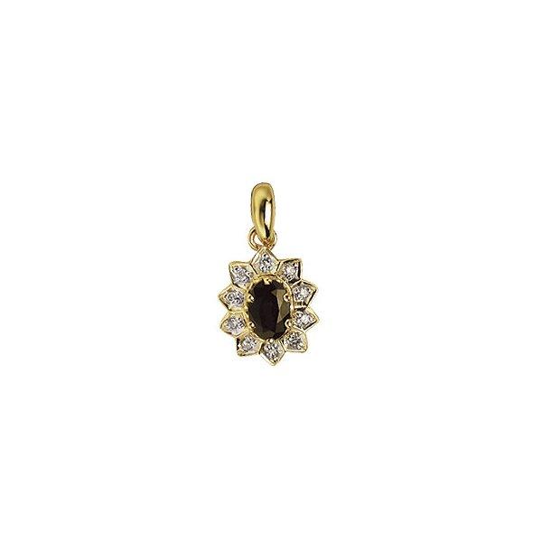 Aagaard 14 kt vedhæng med diamanter og safir - 1483065-95V