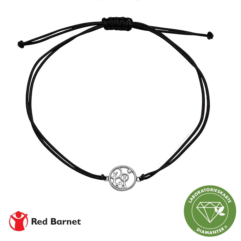 aagaard – Aag red barnet, armbånd, sølv m/1 x 0,01 ct lg diamant tw/ si2 1601-kv-rb-s på brodersen + kobborg