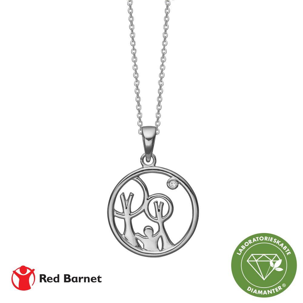 aagaard Aag red barnet, halskæde sølv m1 x 0,01 ct /lg diamant tw/si2 fra brodersen + kobborg