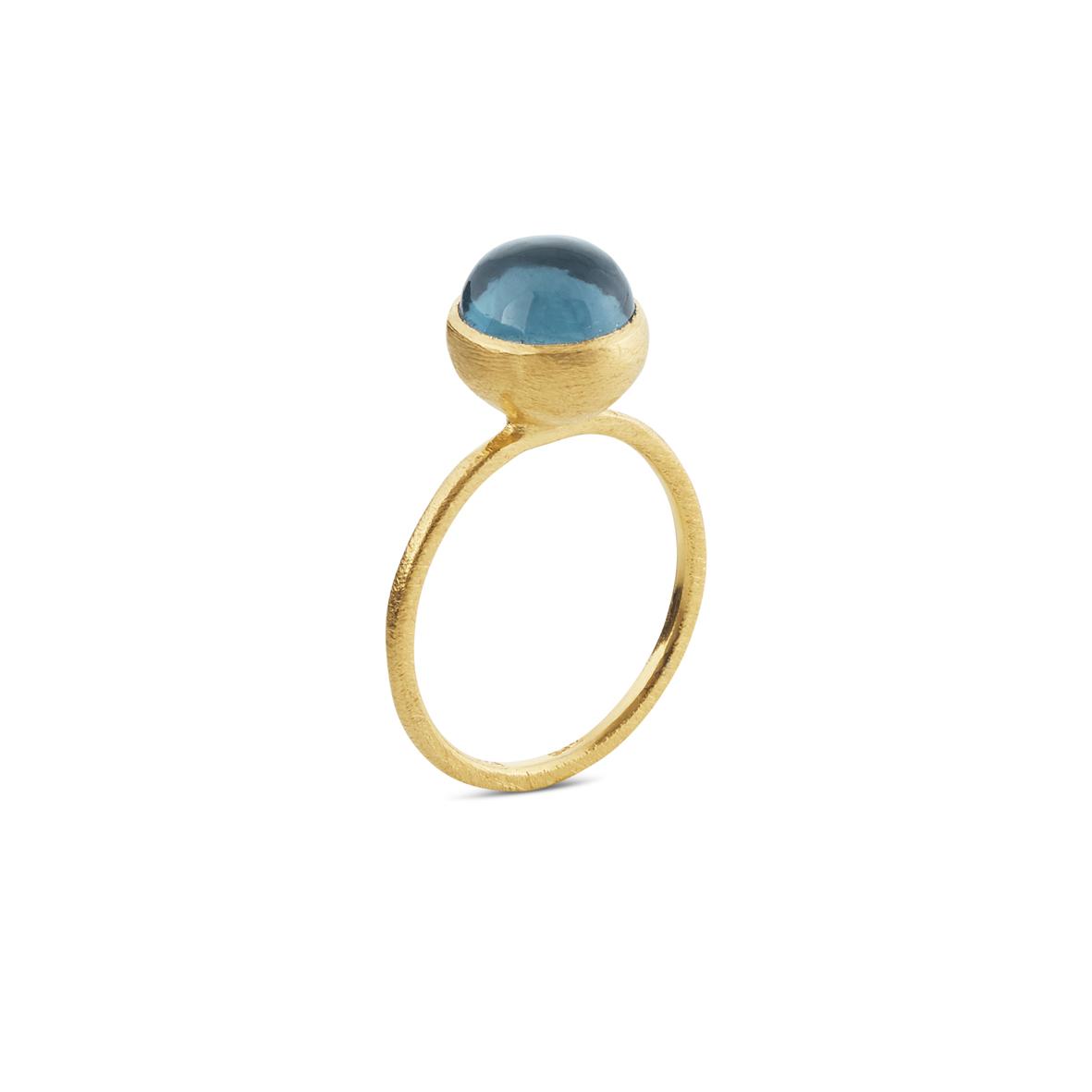Susanne Friis Bjørner forgyldt ring - 1692-2-174 London blue 56