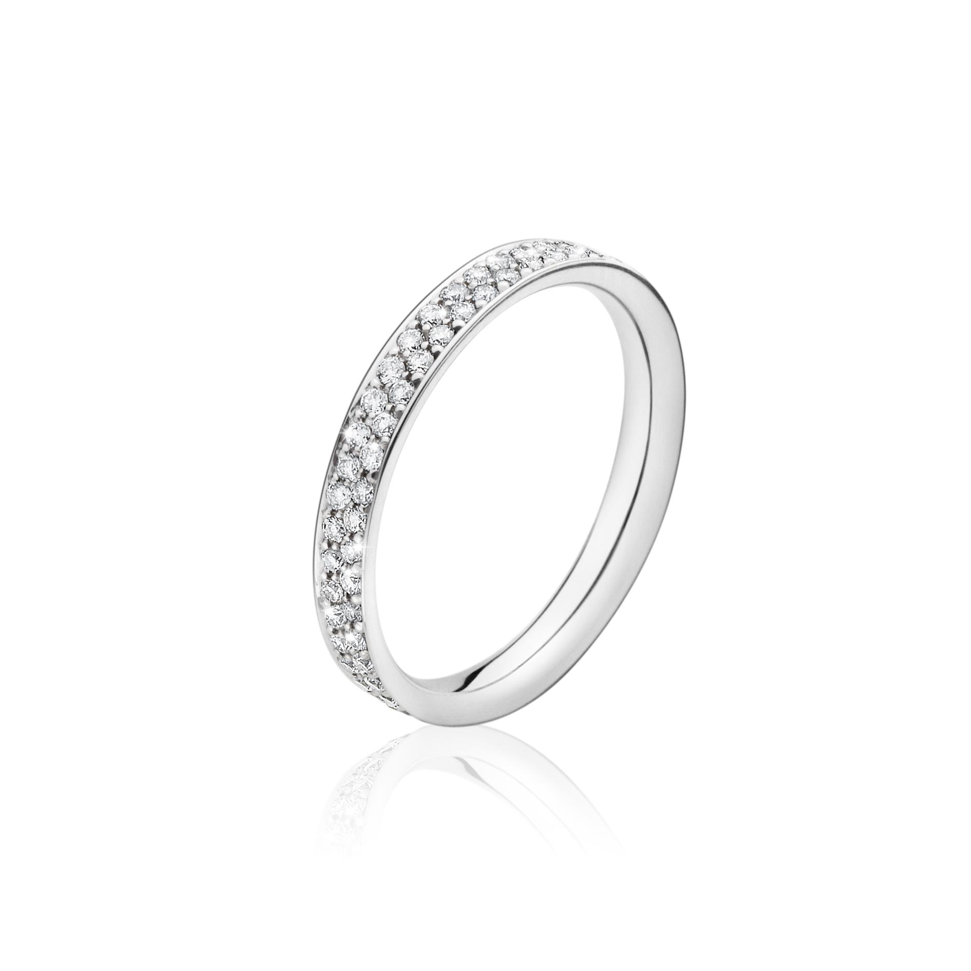 Georg jensen magic ring hvidguld - 20000285 hvg/ialt 0,53 ct 54 fra georg jensen - smykker fra brodersen + kobborg