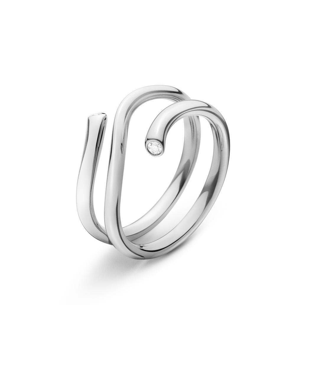 Georg Jensen Magic ring hvidguld - 20000342 0.04 ct / hvg 56