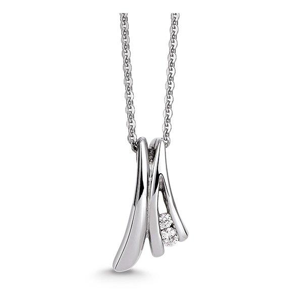 Aagaard Rhodineret sølv vedhæng med kæde - 21324043-45
