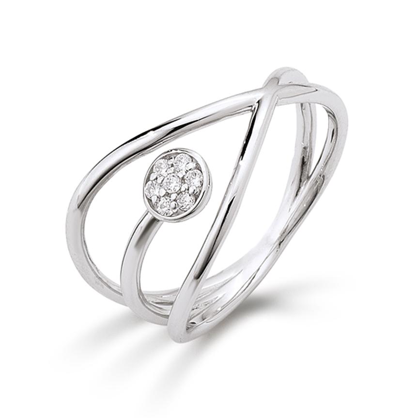 aagaard Aagaard sølv ring med synt. zirkonia - 21623523-75 størrelse 54 fra brodersen + kobborg