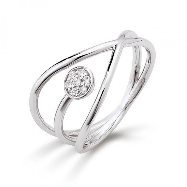 AAGAARD sølv ring med synt. zirkonia - 21623523-75