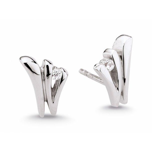 Aagaard Rhodineret sølv ørestikker - 21924043-75