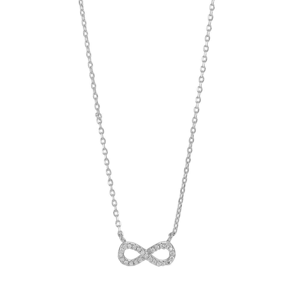 Rhodineret sølv halssmykke agna - 245-051 fra nordahl andersen på brodersen + kobborg