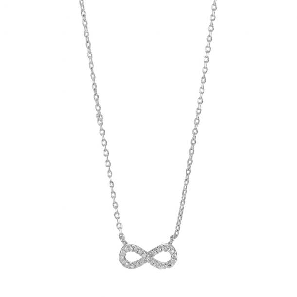 Rhodineret sølv halssmykke Agna - 245-051