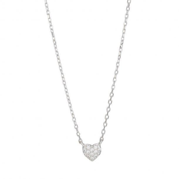 Rhodineret sølv vedhæng Alma incl kæde - 245 078