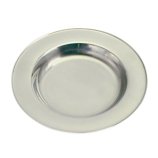 Rustfri stål tallerken Glat - 257-88033