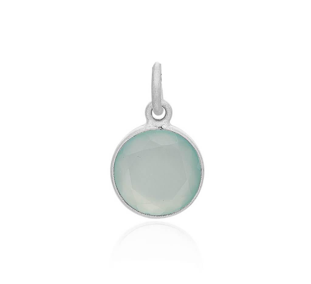 Frk. Lisberg Aqua vedhæng sølv - 3152-925